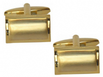 Dalaco 90-2214 Dual Finished Rectangle Gold Plated Cufflinks